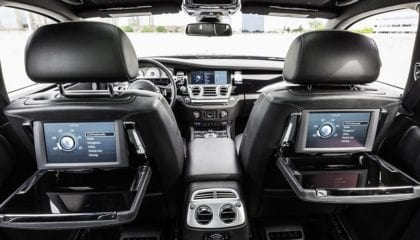 Rolls Royce Ghost, back seat tray tables