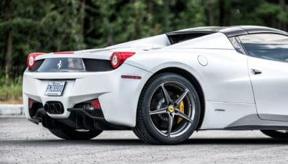 Ferrari 458 Spider, 3/4 rear view