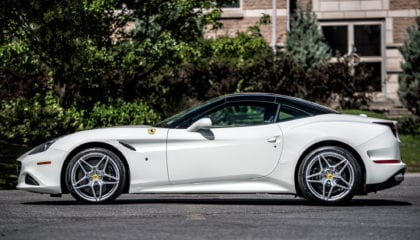 Ferrari California T, side, roof up